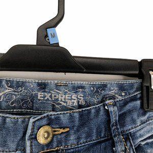 Express Jeans - Express Womens Blue Legging Skinny Denim Jeans 10